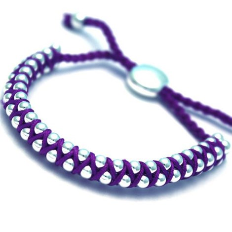 Braided Cord Purple High Quality Friendship Bracelet